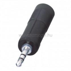 Audió átalakító, 3,5 mm sztereó dugó-2 x 6,3 mm sztereó alj
