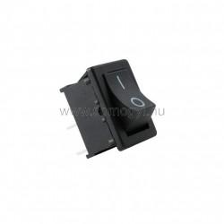 Mini billenőkapcsoló, 250v, 1ák, fekete