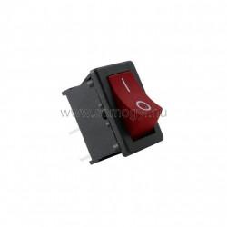 Mini billenőkapcsoló, 250v, 1ák, piros