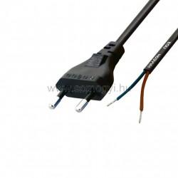 Hálózati csatlakozókábel, 2x0,75, 1,5m, ónozott véggel