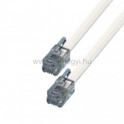 Telefoncsatlakozó kábel, 6p4c, dugó-dugó, 15m