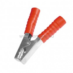 Akkumulátorcsipesz, 200a, 150mm, piros