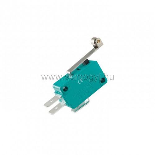 Mikrokapcsoló, 10a, nyomógörgős