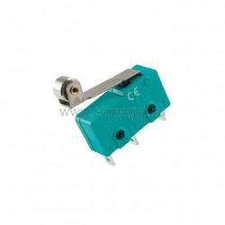 Mikrokapcsoló, 5a, mini, nyomógörgős