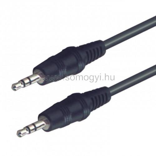 Audió kábel, 3,5 mm sztereó dugó-3,5 mm sztereó dugó, 5 m