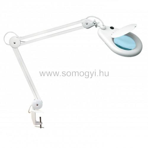 Nagyítós lámpa, asztallapra szerelhető, 3 dioptria