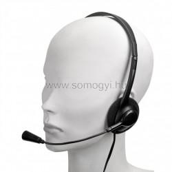 Sztereó fejhallgató, mikrofonnal