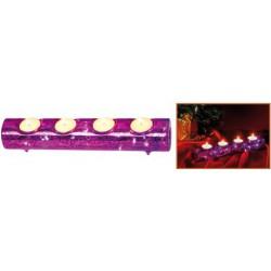 Led-es világító asztali mécsestartó, lila, 3v