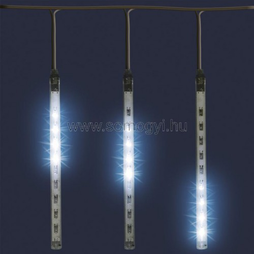 Led-es jégcsap fényfüggöny, 1,6 m, ip44, 230v