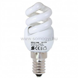 Energiatakarékos izzó, spirál, 5w, e14, melegfehér