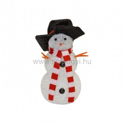 Led-es dekoráció, hóember, 17cm, 4,5v