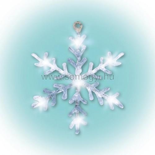 Led-es ablakdísz, akril, hókristály