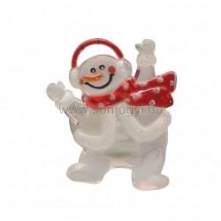 Led-es ablakdísz, hóember, tapadókorongos, 3v