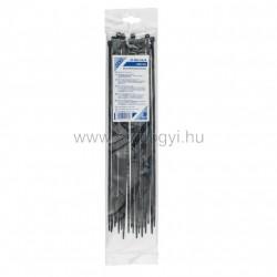 Kábelkötegelő, 400 x 4,8 mm, fekete
