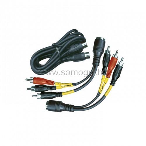 Audió kábel, 3 rca dugó-3 rca dugó, 1,9 m