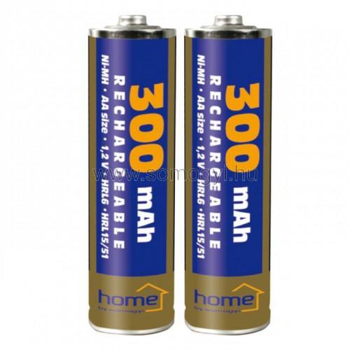 Akkumulátor, aa, 300mah, ni-mh, 2db/bliszter