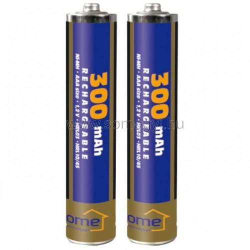 Akkumulátor, aaa, 300mah, ni-mh, 2db/bliszter