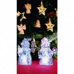 Led-es dekoráció, mikulás+hóember, 4,5v