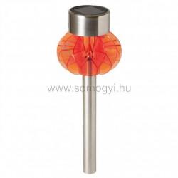 Napelemes kerti lámpa, fém, narancs