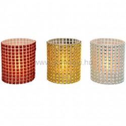 Led-es gyöngydekorációs mécses, 12 db / display, 3v