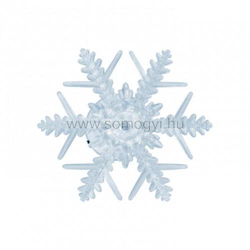 Led-es ablakdísz, hókristály, tapadókorongos, 3v