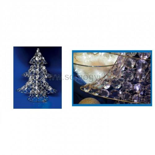 Led-es karácsonyfa-dekoráció, akril, 4,5v