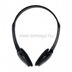 Sztereo fejhallgató, elfordítható hangszórókkal, egyoldali kábelkivezetéssel