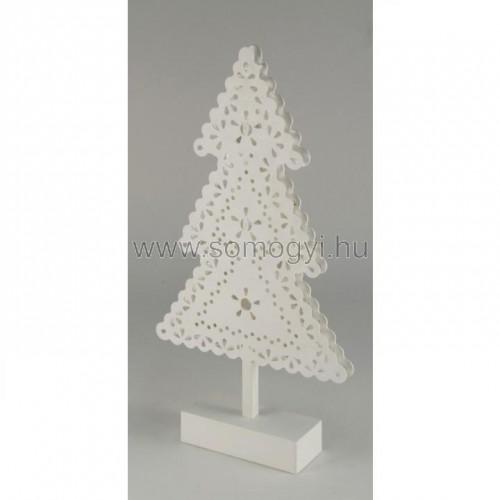Led-es asztali dísz, fenyőfa, 4,5v
