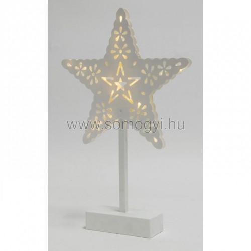 Led-es asztali dísz, csillag, 4,5v