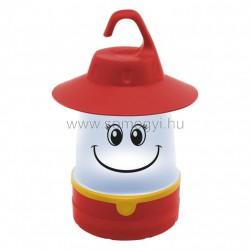 Gyermek led kempinglámpa, piros