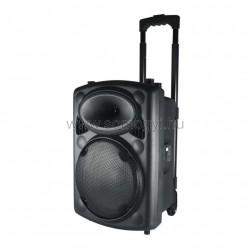 Hordozható aktív hangdoboz, beépített akkumulátorral