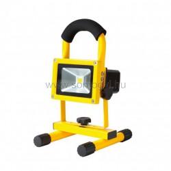 Led-es fényvető, akkumulátoros, hordozható, 10 w