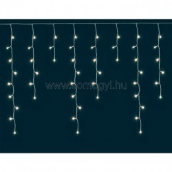 Jégcsap fényfüggöny, mini izzós, 12m, ip44, 230v
