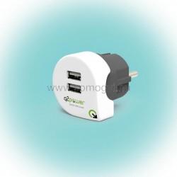Q2 power dupla usb töltő
