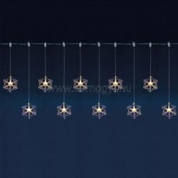Led-es hókristály fényfüggöny
