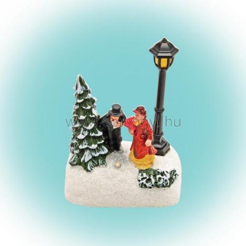 Ledes karácsonyi asztali dísz