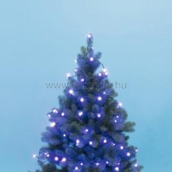 Led-es beltéri fényfűzér, kék, 50 led
