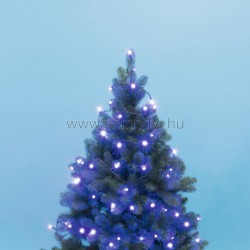 Led-es beltéri fényfűzér, kék, 100 led