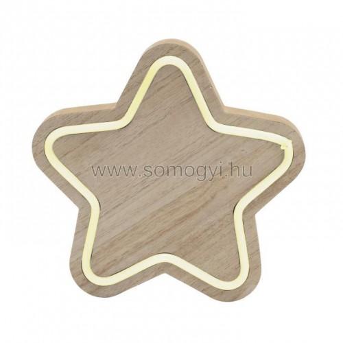 Fa asztali dísz, csillag
