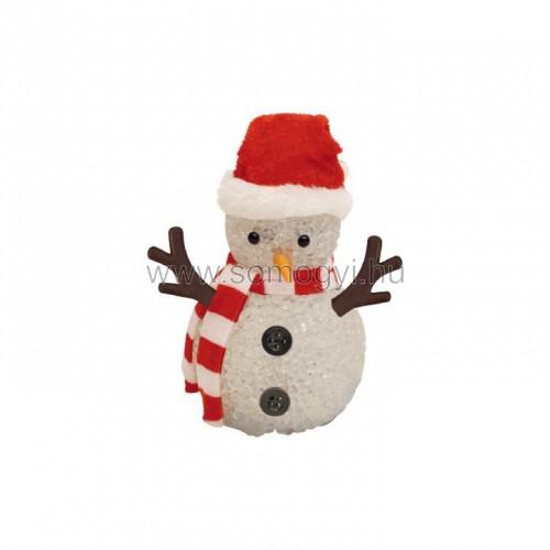 Led-es dekoráció, hóember, 12cm, 4,5v