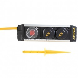 Stanley 2-es elosztó kapcsolóval, leszúrható