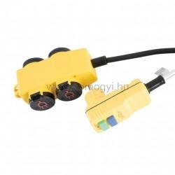 Stanley 4-es elosztó kapcsolóval, rcd dugóval