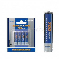 Akkumulator, aaa, 700ma, ni-mh, 4db/bliszter