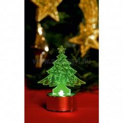 Led-es mécses dekoráció, fenyőfa