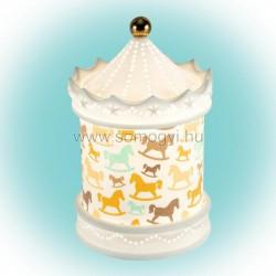 Porcelán dekorvilágítás, körhinta